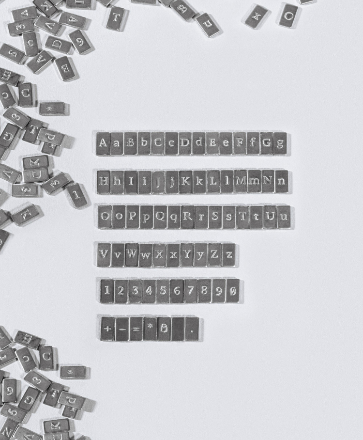 Cryptosteel Anykey letters