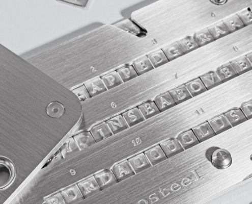 Cryptosteel Mnemonic close-up