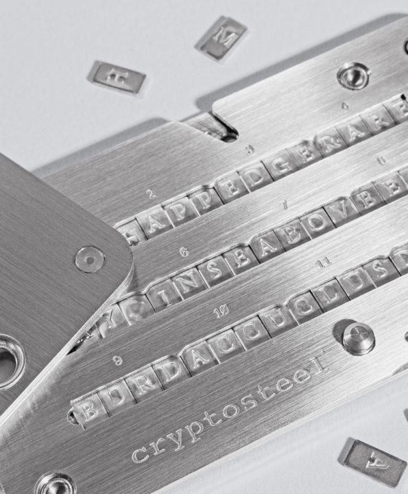 Cryptosteel Mnemonic close-up