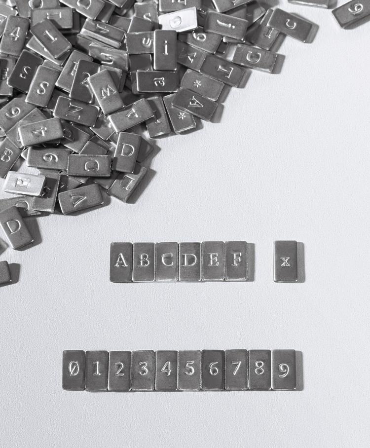 Cryptosteel Hexadecimal Letters