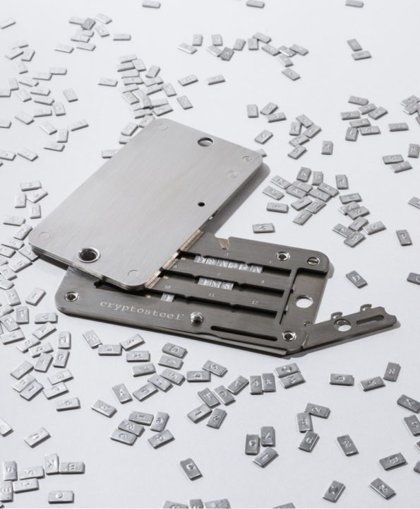 Cryptosteel unlocked with Letters