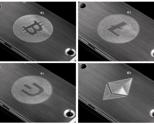 Examples for mechanical engraving of Cryptosteel Cassettes